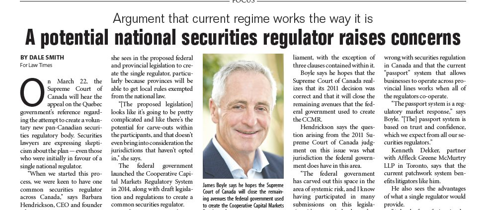 Featured in Law Times Article
